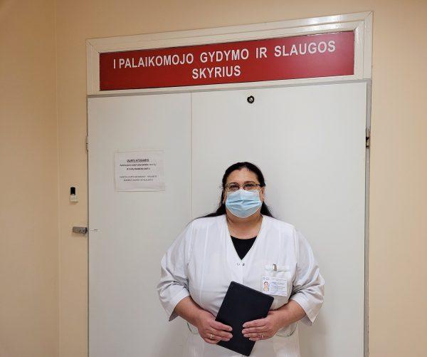 LSMU Kauno ligoninės socialinė darbuotoja Tatjana Šabak-Spaskaja